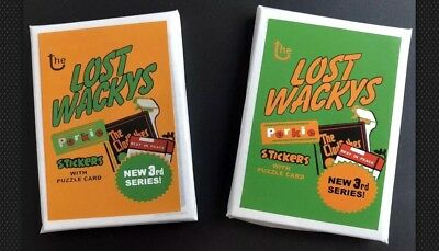 RARE LOST WACKY PACKAGES 3rd Series Sealed In 2 Packs Complete Alternate Set