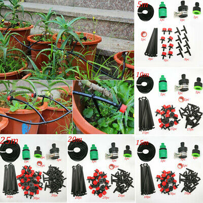 5-25m MICRO DRIP IRRIGATION SYSTEM HANGING BASKET WATERING KIT GREENHOUSE GARDEN