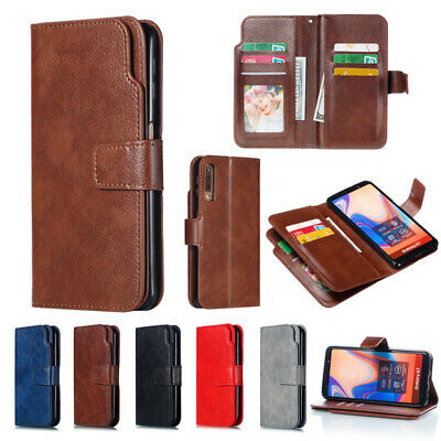 For Samsung Galaxy A70 A50 Note 10+ Card Holder Leather Flip Wallet Case Cover
