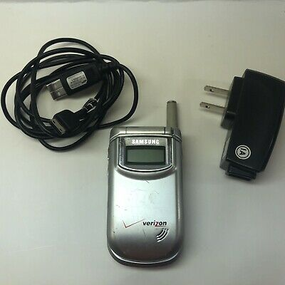 Samsung SCH-A310 (Verizon) Mobile Cellular Flip Phone w Battery & Power Adapter