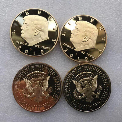 2019 Donald Trump Gold Coin Make America GREAT Again 45th President Liberty