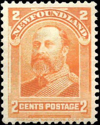 Mint Canada Newfoundland 1897-1901 2c Scott #81 Stamp Hinged