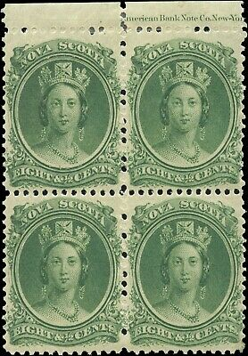 Mint Canada Nova Scotia 1860-1863 Block 8-1/2cc Scott #11 Queen  Stamps MH/MNH