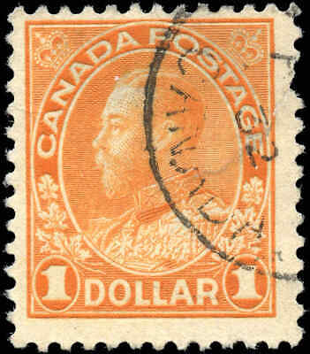 Canada Used Scott #122 1925 $1.00 King George V Admiral Stamp