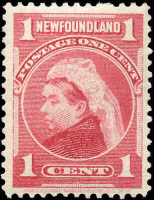 Mint Canada Newfoundland 1897-1901 1c Scott #79 Stamp Hinged