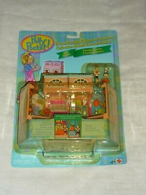 Vntg 1999 Mattel Polly Pocket Dream Builders Art Studio Room Playset New Moc