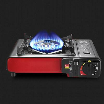 Portable Gas Stove Grill Cooker Tabletop Dual Burner Heater BBQ Outdoor Camping