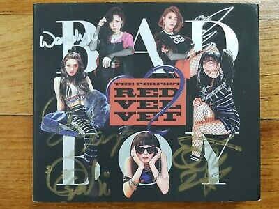 "RED VELVET autographed ""BAD BOY"" 2nd Album singed PROMO CD"