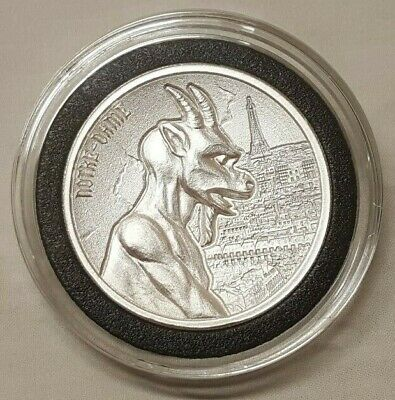 2oz Gargoyle #1 of Notre Dame Cathedral Gargoyles of the Word Silver Round Coin