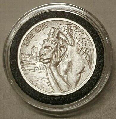 2oz Gargoyle #2 of Notre Dame Cathedral Gargoyles of the Word Silver Round Coin