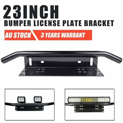 23inch License Number Plate Frame Holder Bull Bar Bumper Mount LED Light Bracket