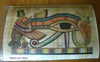 Genuine Egyptian  PAPYRUS -Eye of Horus -Hieroglyphics - 29.5 x 19.5cm   #406