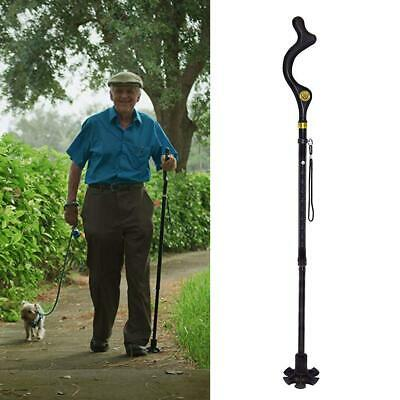 Old Man Walking Stick Posture Cane Adjustable Crutches Mountain Climb Assistant