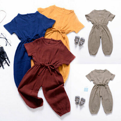 AU Cute Newborn Baby Boys Girls Romper Bodysuit Jumpsuit Outfits Sunsuit Clothes