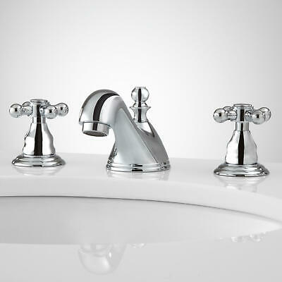 Signature Hardware Talara Widespread Bathroom Faucet with Overflow in Chrome