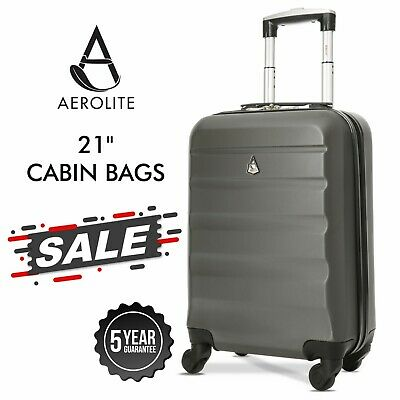Aerolite Ryanair easyJet Cabin Carry On Hard Shell Hand Cabin Bag Suitcase Case
