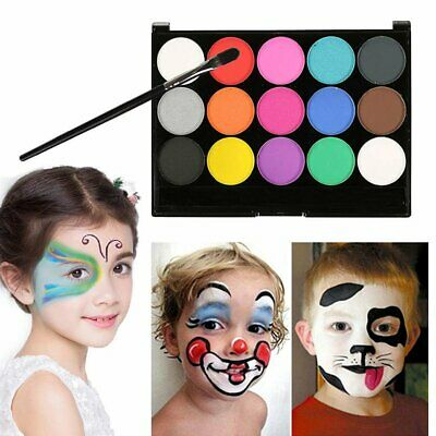 15 Colors Face Body Tattoo Paint Oil Painting Art Make Up Halloween Party Kit