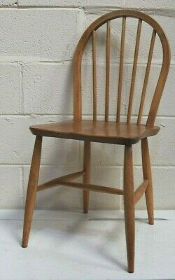 Vintage ERCOL Windsor Blue Label Blonde Dining Office Reading Chair  - 250