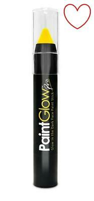 paintglow face body paint make up neon glow dark stick festival A211301 yellow