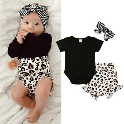 AU Newborn Kids Baby Girl Outfits Clothes Romper Bodysuit+Tutu Pants Dress Set