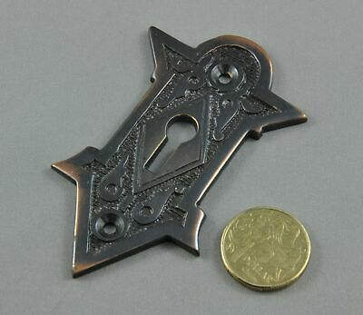 Key Hole Fancy Escutcheon-Solid Brass-Antique Copper Finish-Victorian Style-
