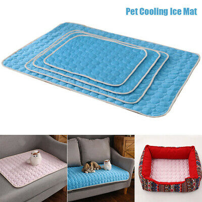 Indoor Dog Cooling Mat Pet Cat Chilly Non-Toxic Summer Cool Bed Pad Cushion New