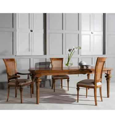 Manhattan French Finest Ash & Walnut Wood Large Extending Dining Table