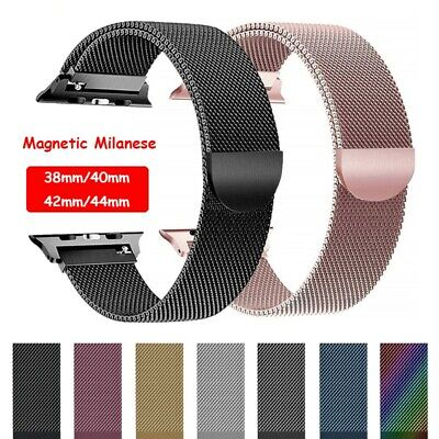 Magnetic Milanese Loop Watch Band Strap For Apple Watch Series 4 3 2 1 40/44mm