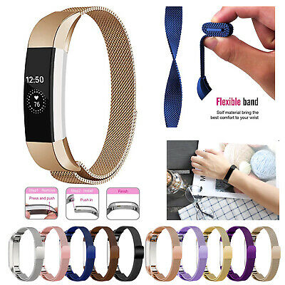 For Fitbit Alta / Alta HR Magnetic Milanese Stainless Steel Band Strap