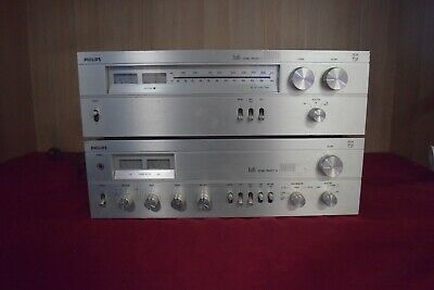 Vintage Philips Sound Project A8000 Stero Amplifier & Turner