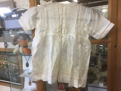 Vintage Childs Silk Embroidered Christening Gown