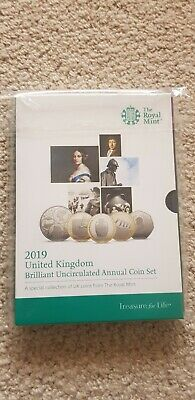 Royal Mint 2019 UK Annual 13 Coin set BU In Sealed Pack Inc Comemorative Coins
