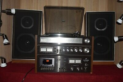 Vintage Rank Arena Music Tower RA 20T Stero System Belt Drive Turntable