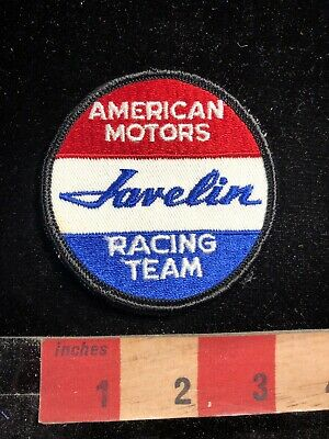 Vtg Car / Auto AMERICAN MOTORS JAVELIN RACING TEAM atch Advertising Patch 95MI