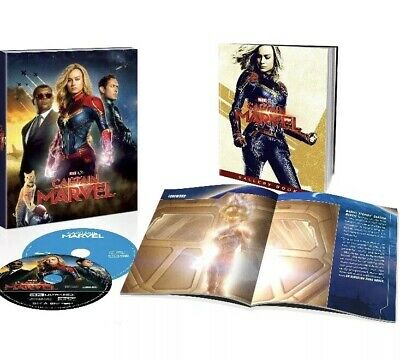 Captain Marvel 4K UHD + Blu-ray Target Exclusive 40-Page Book - No Digital