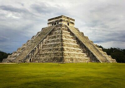 Cool Chichen Itza Temple Poster Size A4 / A3 Mexico Landscape Poster Gift #8877