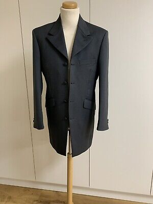 Mens Classic Grey Herringbone Prince Edward Jacket Ex Hire Formal/Races/Wedding
