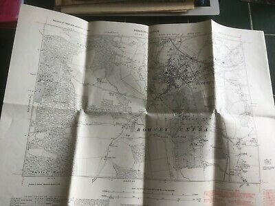 1938 Vintage Royal Commission Historical Monuments map - Romsey