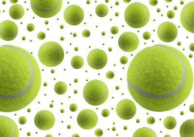 Cool Tennis Ball Pattern Poster Print Size A4 / A3 Ball Sports Poster Gift #8693