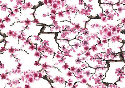 Cool Pink Cherry Blossom Poster Size A4 / A3 Japan Tree Nature Poster Gift #8719