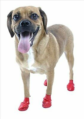 Pet Pawz Red Water-Proof Dog Boots, Small, Up to 2-1/2-Inch (12 sheets)