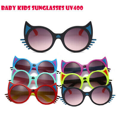 AU Unisex Kids Baby Boys Girls Sunglasses Outdoor Cartoon Cat Anti-UV400 Glasses