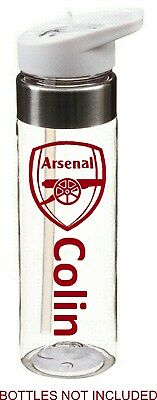 Watford Favourite Football Player//Number Personalised Water Bottle Sticker