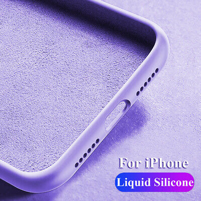 Slim Hybrid Liquid Silicone Rubber Case for iPhone 11 Pro Max X XS 7 8 Gel Cover