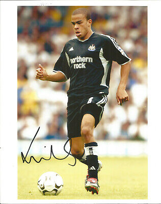 Football Autograph Keiran Dyer Newcastle United Signed Photograph F1128