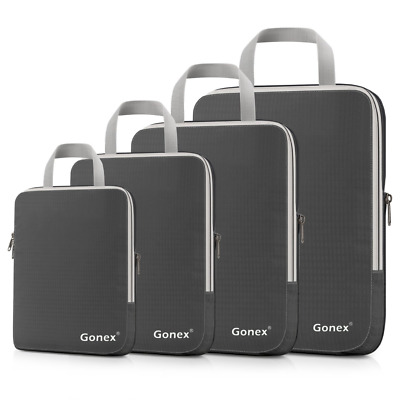 Gonex Compression Packing Cubes Extensible Organizer Bags for Travel Suitcase Or