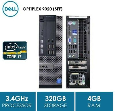 SFF, DELL OPTIPLEX 9020,i7 4770/4790, 4GB, 320GB, DVDRW, NO OS, WIN7 COA