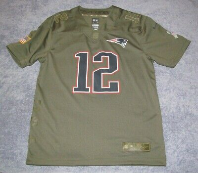 f875a6ff4 Tom Brady Youth New England Patriots Salute to Service Nike Jersey 2017 Camo