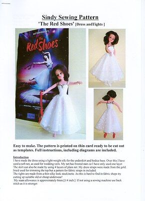 Sindy/Barbie Sewing pattern, 'The Red Shoes' Ballet Dress and Tights