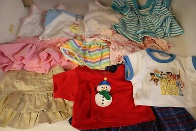 Build-A-Bear lot of girl and boy cute outfits all seasons